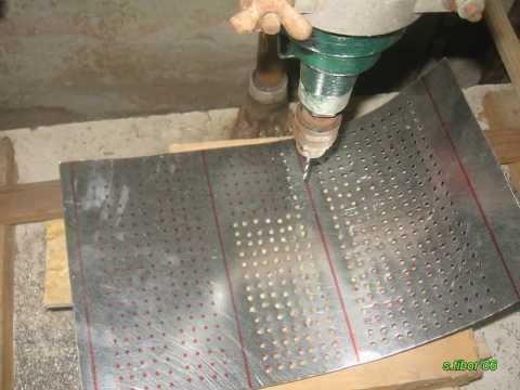 Homemade papier briquette maker / Papir brikett prés elkészitésse házilag 2013