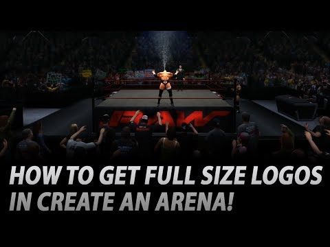 WWE 2K14: How To Get Full Size Apron Logos! (Tutorial)