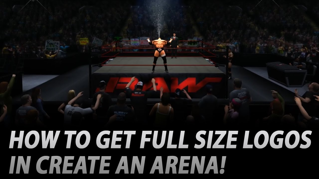 wwe 2k14 how to get full size apron logos tutorial