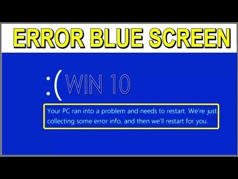Blue Screen In Windows 10 Myhiton