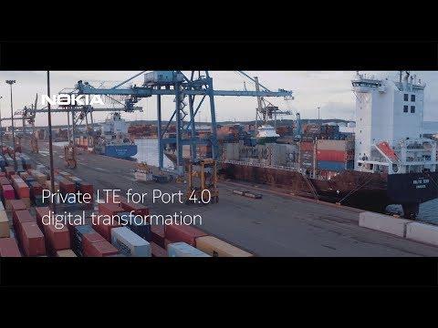 Private LTE for Port 4.0 digital transformation
