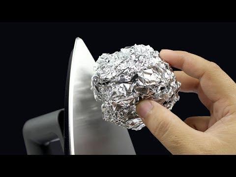 5 Amazing life hacks for aluminium foil