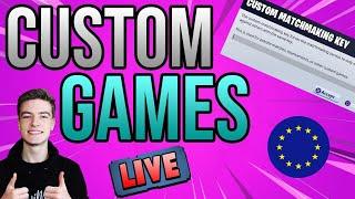 🔴CUSTOM MATCHMAKING EU! FASHION SHOWS + MINI GAMES!! *LIVE* SIMON SAYS + MORE FORTNITE CUSTOM GAMES