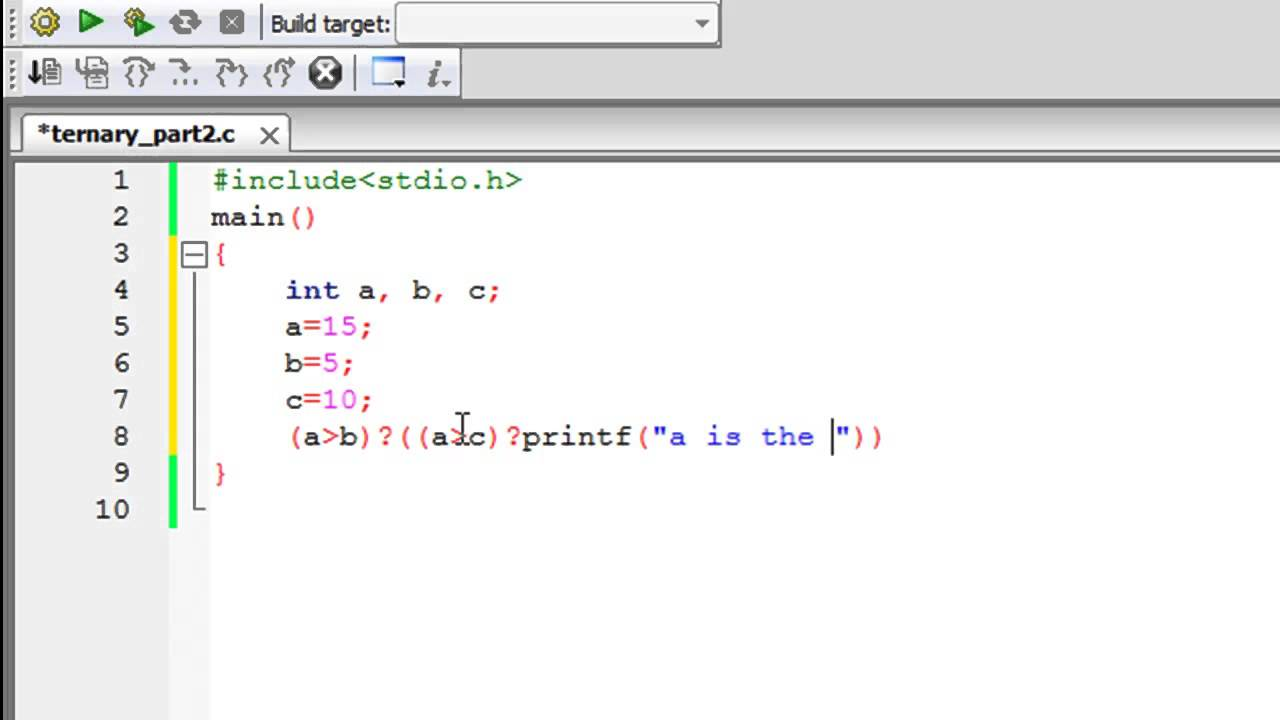 Conditional operator in c programming.