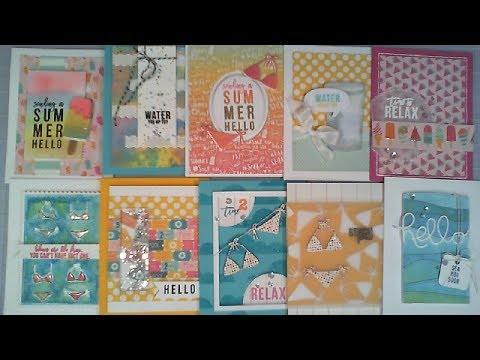 Good 10 Cards   1 Kit / Simon Says Stamp Card Kit / July 2017 / Cu0026CT