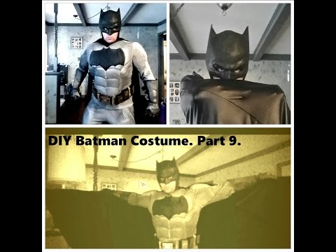 DIY Batman V Superman Costume part 9. Finished Batman Cosplay first test fitting.