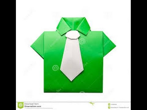 Origami Como Hacer Una Camisa De Papel