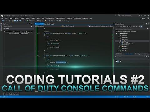 Jtag Coding Tutorials #2 Call of Duty Console Commands