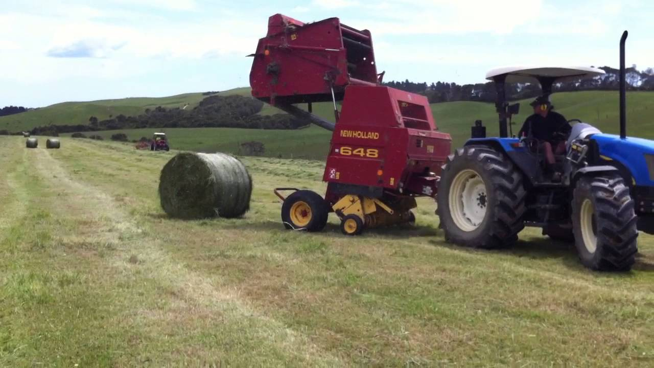 new holland baling with a new holland 648 round baler youtube rh youtube com 630 New Holland Troubleshooting 630 New Holland Troubleshooting