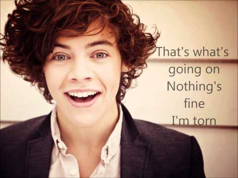 One Direction -Torn- Lyrics On Screen