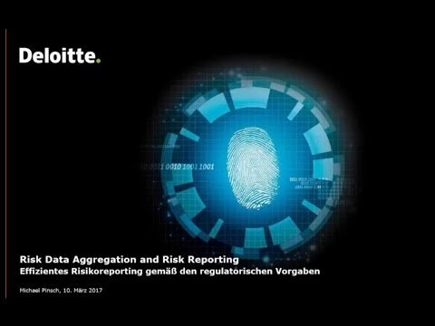 Deloitte Stay in Touch Community Webinar Risk Data Aggregation and Risk Reporting