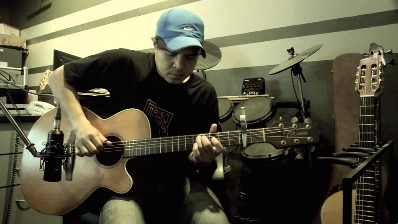 Takkan Terpisah (Black) - Acoustic Guitar - Fingerstyle - Cover