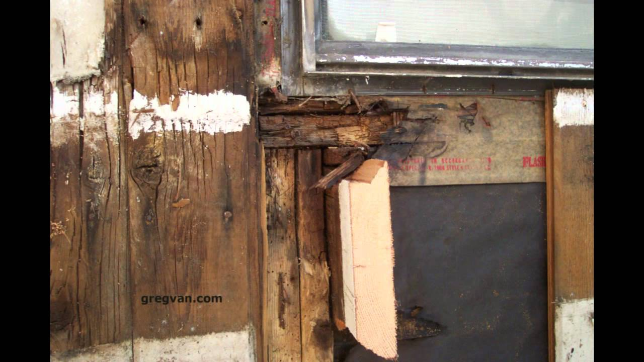 Wood Rot Near Window Wood Siding Damage Youtube