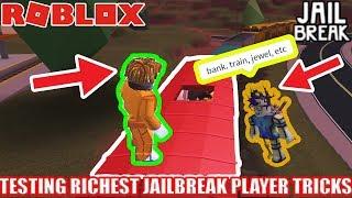 TESTING the RICHEST JAILBREAK PLAYER'S Money Farming Tricks! Jailbreak Roblox