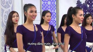 Hoa khôi Áo dài Việt Nam 2014_Hướng dẫn catwalk trên nền nhạc