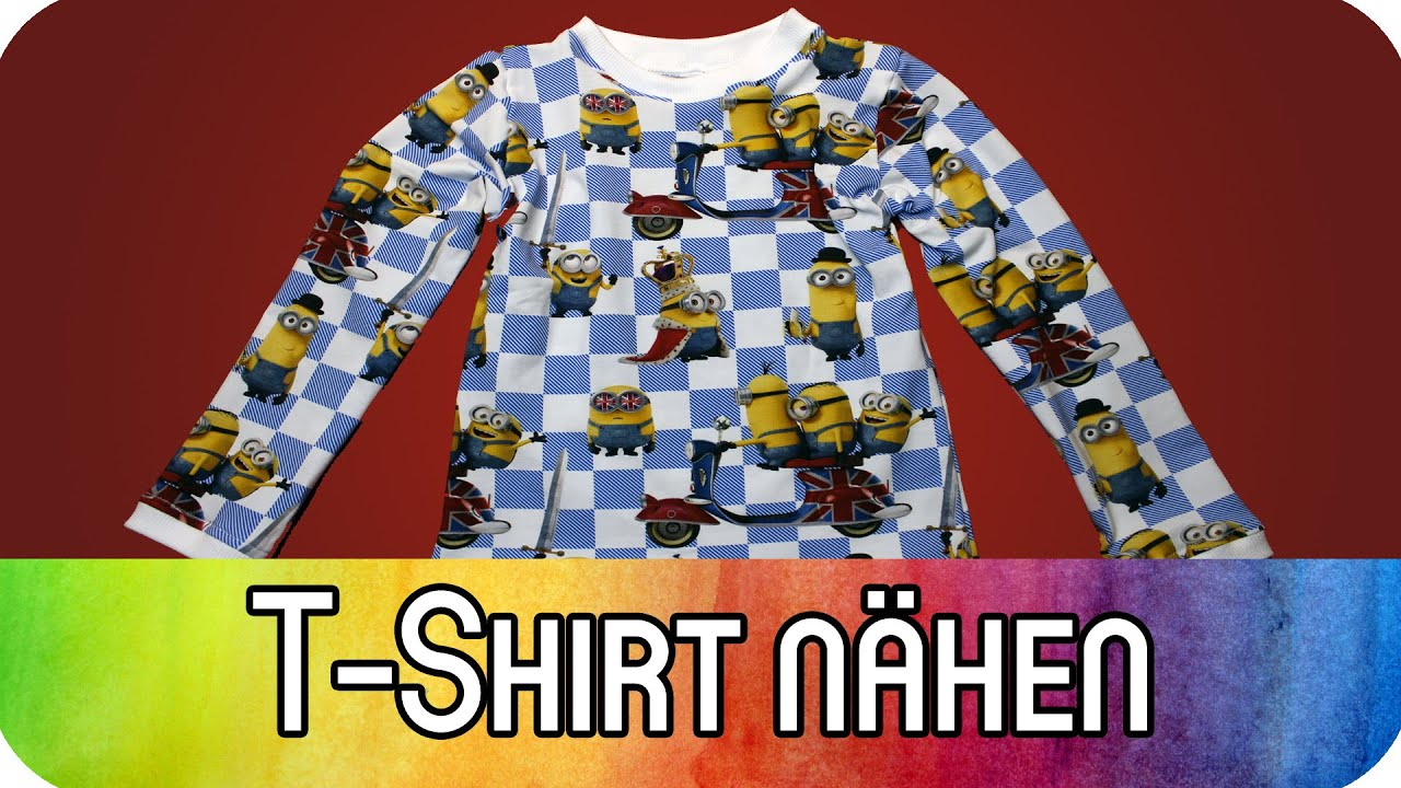 DIY Komplettanleitung: T-Shirt nähen mit Bündchen und Fake-Bündchen ...
