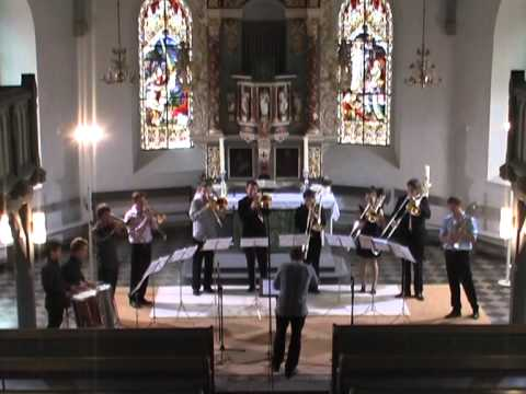 William Byrd - The Earl of Oxford's March - Hanover Trombone Class conducted by Jonas Bylund