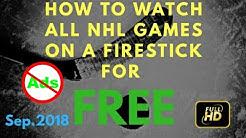Watch Free Live NHL Ice Hockey on Amazon FireStick - ad free 100% HD Links 2018