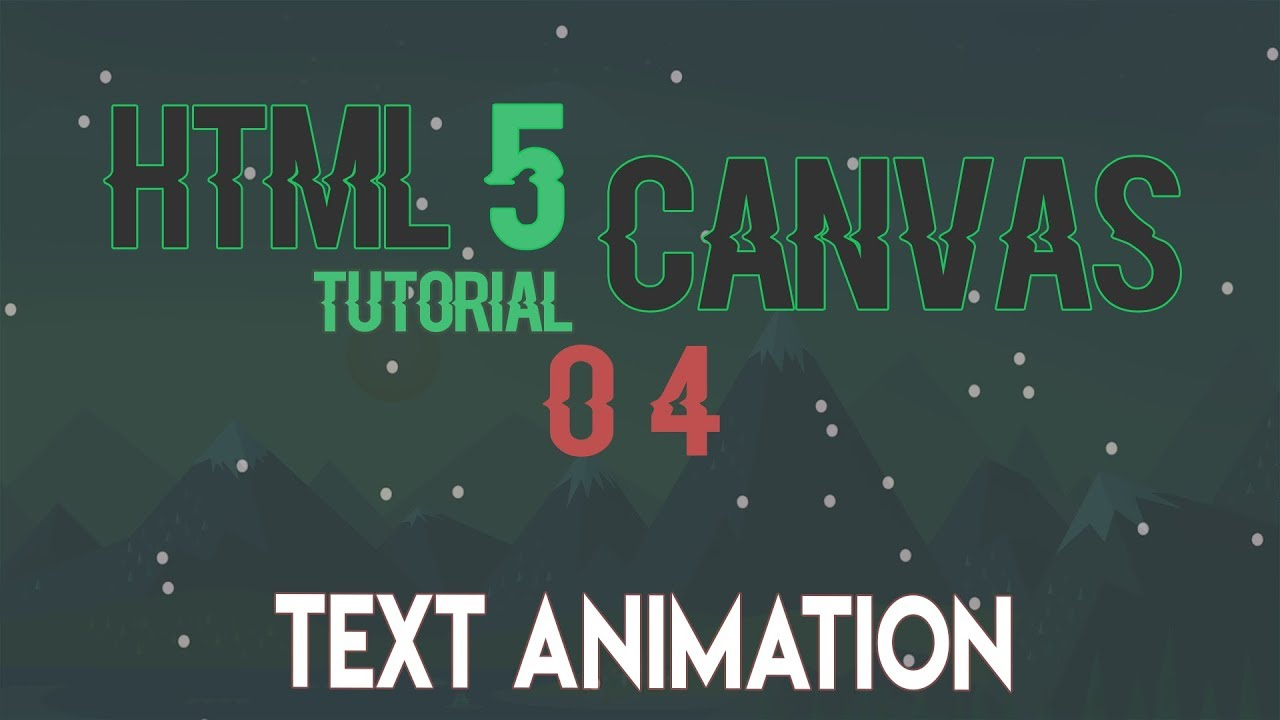 HTML5 Canvas | Text Animation and Circle Collision | Part 02