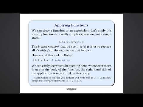 Chris Gore - Lambda Calculus in Ruby (October 13, 2014)