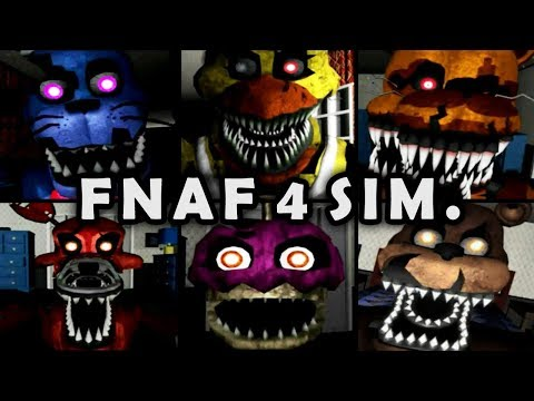 FNAF 4 NIGHTMARE SIM. All Jumpscares