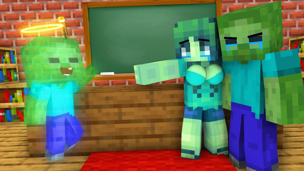 Monster School : POOR BABY ZOMBIE BAD FAMILY - Minecraft Animation