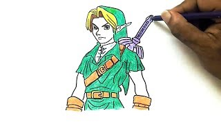 How to Draw Link from The Legend of Zelda