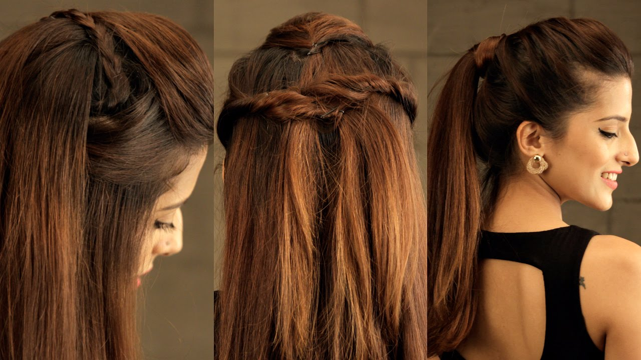 Indian Hair Styles: 3 EASY Everyday Pouf Hairstyle For School, College, Work