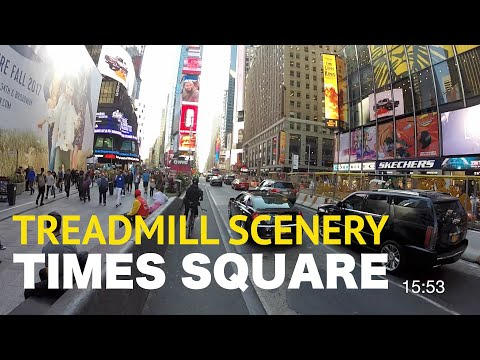 Times Square Virtual Run: Fun New York City Treadmill Scenery