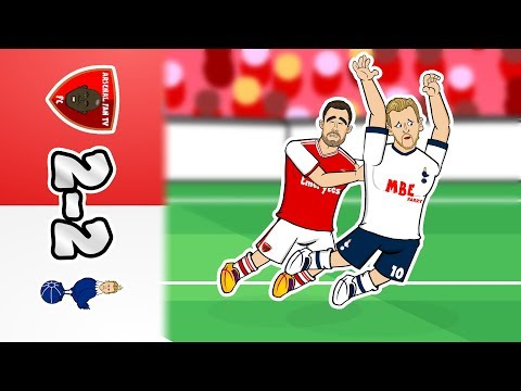 🔴2-2! Arsenal vs Spurs⚪ Feat. Kane's Dive (Parody Goals Highlights 2019 North London Derby)