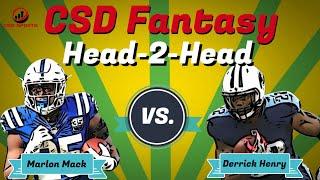 Fantasy Football 2019 - Head 2 Head Marlon Mack vs. Derrick Henry