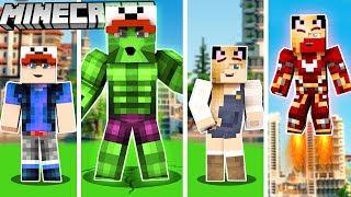 ZOSTALIŚMY SUPERBOHATERAMI W MINECRAFT! (Minecraft Superhero Tycoon)   VITO i BELLA