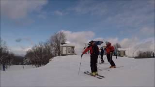 Ski VLOG à Mont Blanc (Québec) - 10 décembre 2016 - GoPro