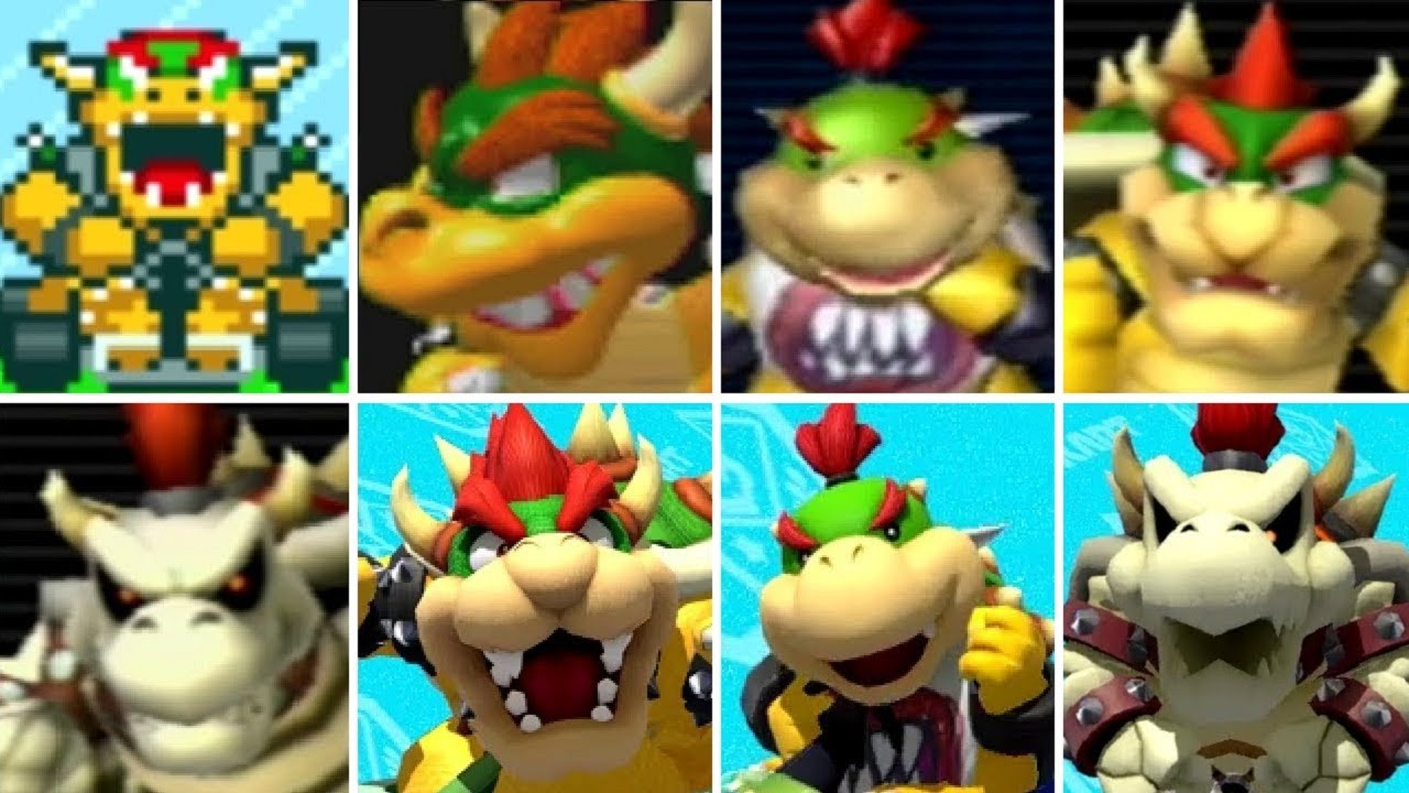 Evolution Of Bowser Characters In Mario Kart Games 1992 2017