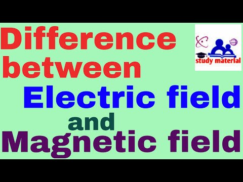 difference between electric and magnetic field in English
