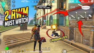 Three vs Squad Best AWM Gameplay - Garena Free Fire- Total Gaming