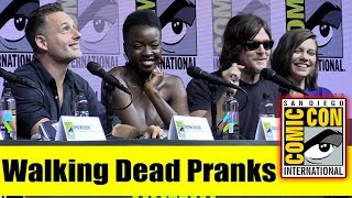 Andrew Lincoln and Norman Reedus Talk WALKING DEAD Pranks | Comic Con 2018