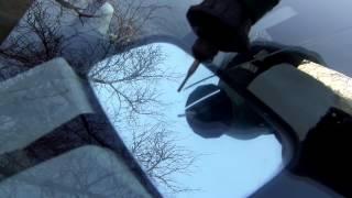 как засверлить лобовое стекло