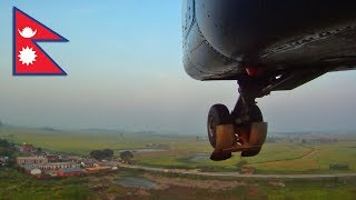 Noseview on takeoff from Nepalgunj, NEPAL