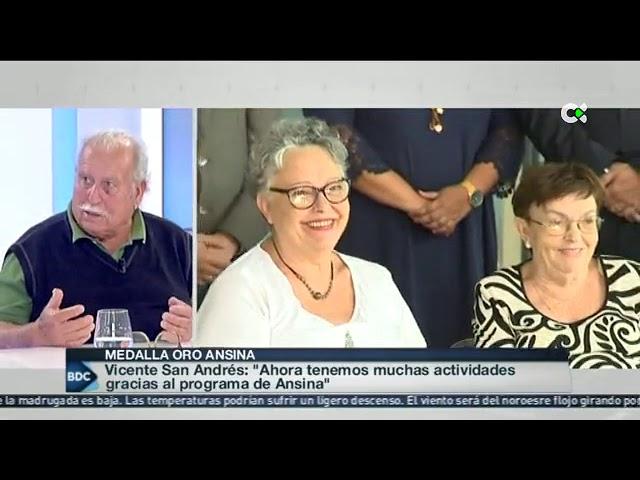 MEDALLA DE ORO A ANSINA | Buenos Días Canarias