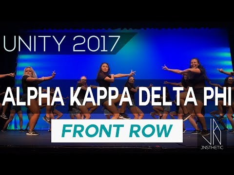 UT alpha Kappa Delta Phi | UNITY 2017 [Front Row 1080p] #unity2017