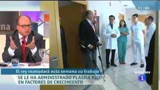 Plasma Rico en Factores de Crecimiento (PRGF®-Endoret®) para tratar al Rey Juan Carlos I