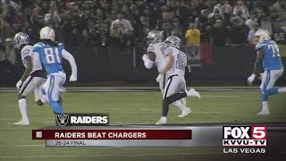 Raiders beat the Chargers