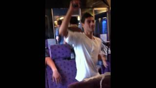 kaos på tåget