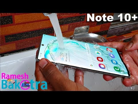 Samsung Galaxy Note 10 Plus Water Test