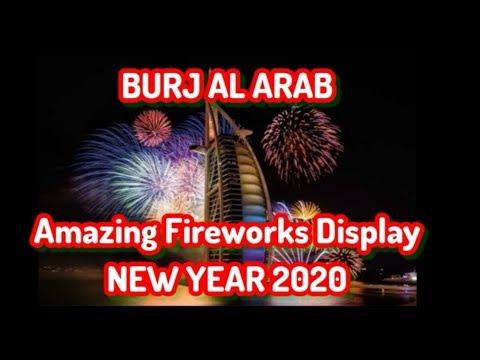 BURJ AL ARAB💥 FIREWORKS Display ¦ New Years Eve 2020!