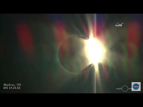 Solar Eclipse 'Diamond Ring' Above Oregon