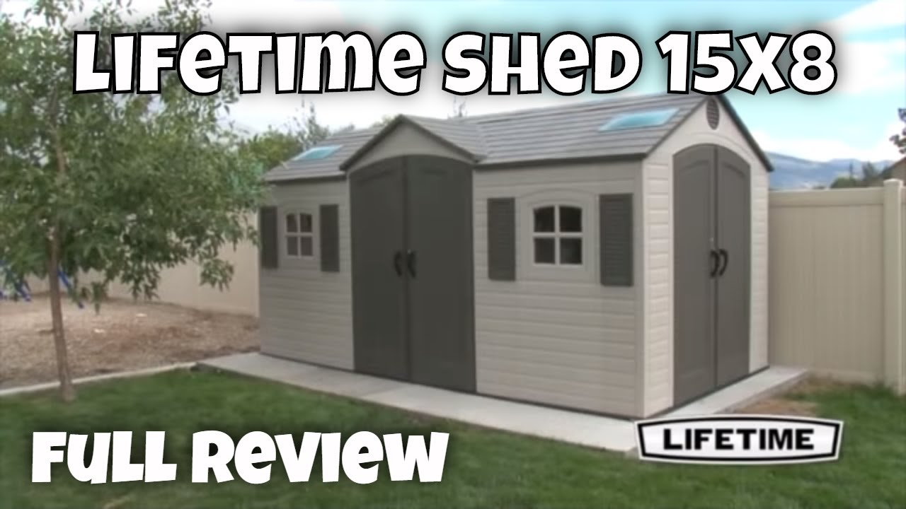 Lifetime Garden Sheds 60079 15 X 8 Ft Dual Entry Plastic