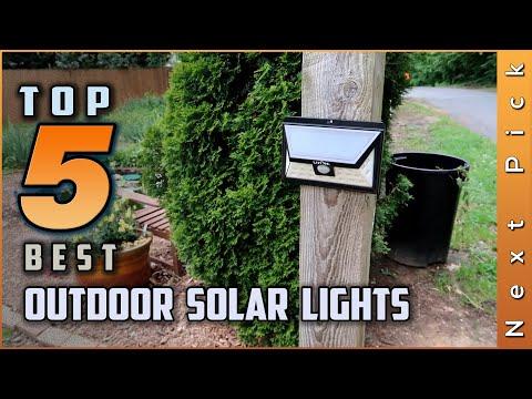 Top 5 Best Outdoor Solar Lights Review in 2020