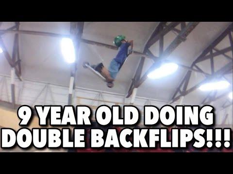 9 Year Old Doing Double Backflips!